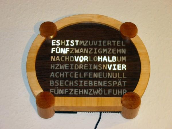 Wörter-Funkuhr: Second Edition | SpaceFlakes.de